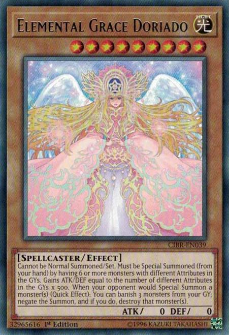 YuGiOh Circuit Break Rare Elemental Grace Doriado CIBR-EN039