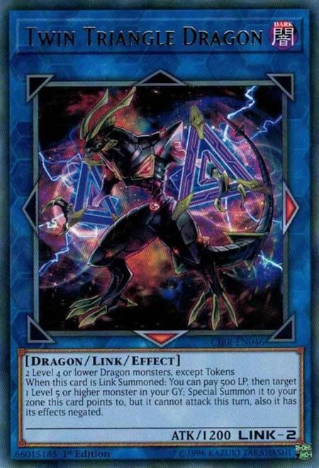 YuGiOh Circuit Break Rare Twin Triangle Dragon CIBR-EN046