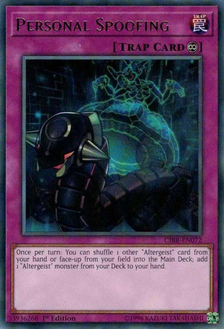 YuGiOh Circuit Break Rare Personal Spoofing CIBR-EN072