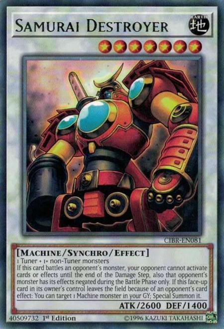 YuGiOh Circuit Break Rare Samurai Destroyer CIBR-EN081