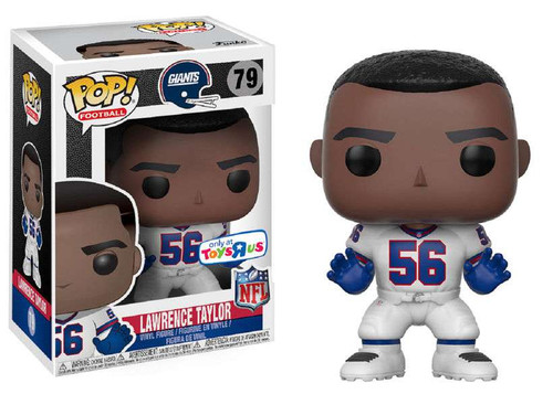 Funko NFL New York Giants POP! Sports Football Lawrence Taylor Exclusive Vinyl Figure #79 [White Jersey Jersey, Damaged Package]