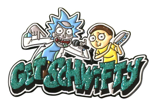 Rick & Morty Get Schwifty 1.5-Inch Enamel Pin