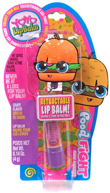 YOYO Lip Balm Food Fight Hanna Mahburger Lip Balm [Grape]