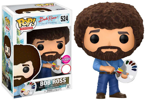 Funko Joy of Painting POP! TV Bob Ross Exclusive Vinyl Figure #524 [Holding Paint Palette, Flocked]