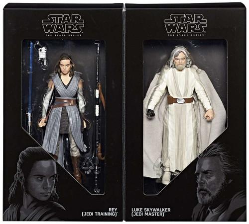 Star Wars The Last Jedi Black Series Rey & Luke Skywalker Exclusive Action Figure 2-Pack