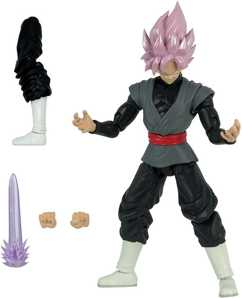 Dragon Ball Super Dragon Stars Series 4 Super Saiyan Rose Goku Black Action Figure [Fusion Zamasu Build-a-Figure]
