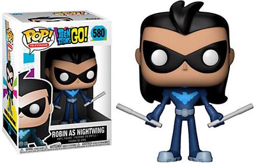 Funko Teen Titans Go! POP! TV Robin as Nightwing Vinyl Figure #580