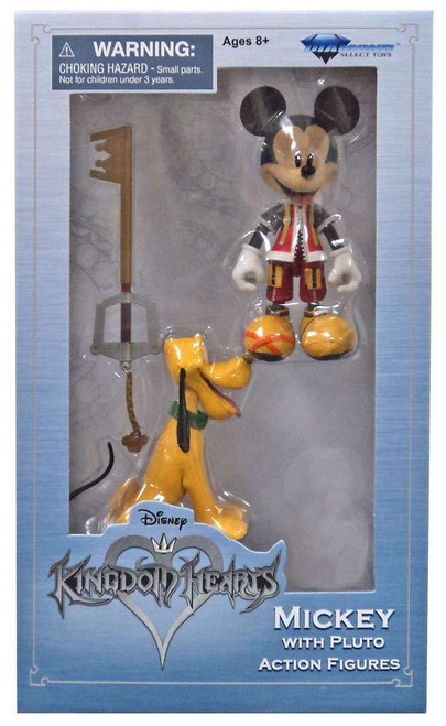 Disney Kingdom Hearts Mickey with Pluto Action Figure 2-Pack