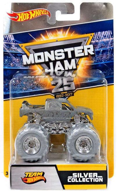 Monster Jam 25 Silver Collection Team Hot Wheels Diecast Car
