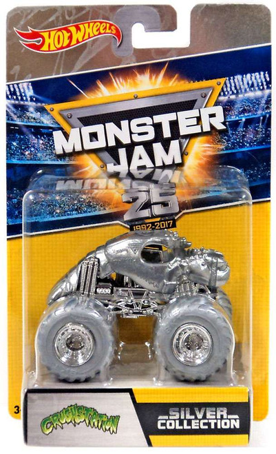 Hot Wheels Monster Jam 25 Silver Collection Crushstation Die-Cast Car