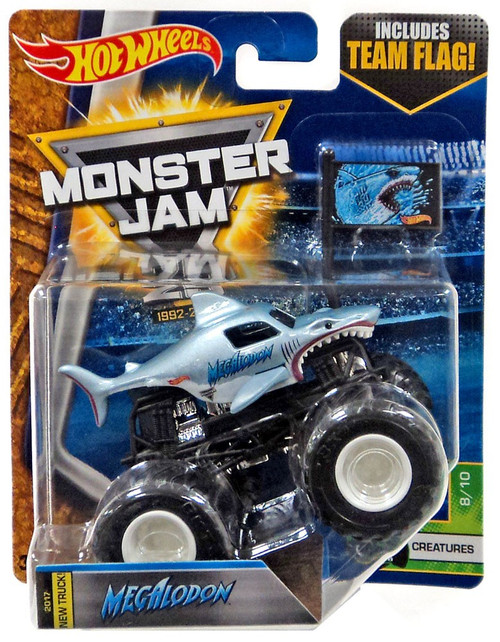 Hot Wheels Monster Jam 25 Megalodon Diecast Car #8/10 [Creatures]