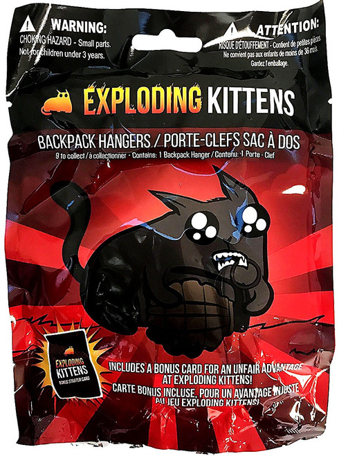 Exploding Kittens Hangers Mystery Pack [Includes a Bonus Starter Card for the Card Game!]