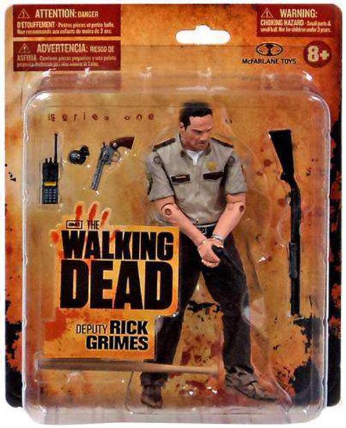 McFarlane Toys The Walking Dead AMC TV Deputy Rick Grimes Action Figure [Short Card Version, Damaged Package]