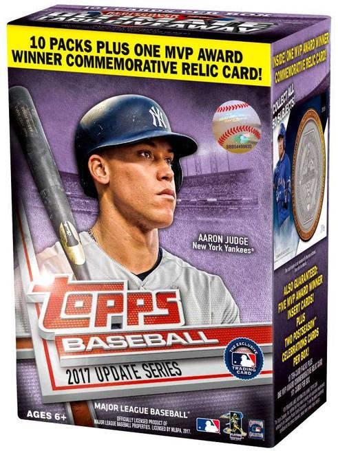 MLB Topps 2017 Baseball Update Trading Card BLASTER Box [10 Packs + 1 MVP Award Relic Card!]