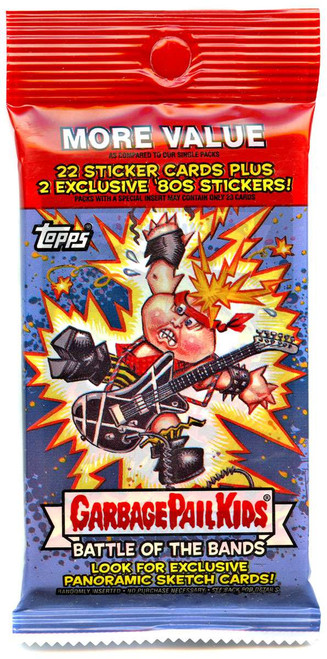 Garbage Pail Kids Topps 2017 Series 2 Battle of the Bands Trading Card Sticker VALUE Pack [22 Sticker Cards + 2 Exclusive 80's Stickers!]