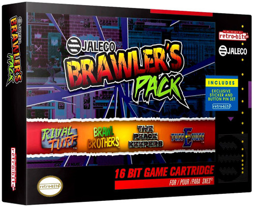 SNES Jaleco Brawler's Pack Video Game Cartridge [4 Games]
