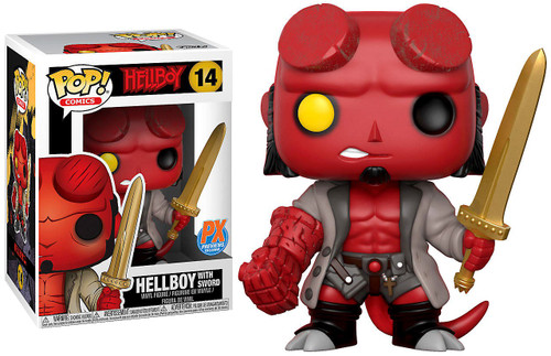 Funko POP! Comics Hellboy with Excalibur Exclusive Vinyl Figure