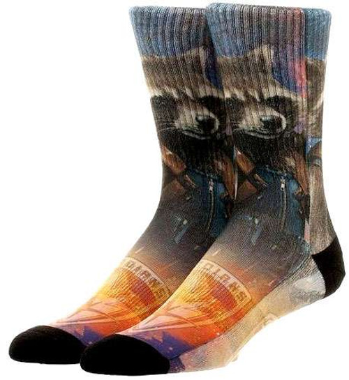 Marvel Guardians of the Galaxy Vol. 2 Rocket Raccoon Crew Socks