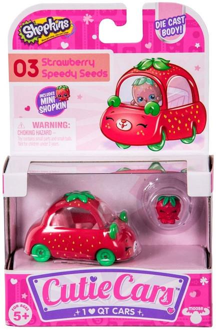 Shopkins Cutie Cars Strawberry Speedy Seeds Figure Pack #03