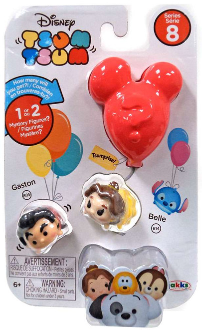 Disney Tsum Tsum Series 8 Gaston & Belle 1-Inch Minifigure 3-Pack #805 & 614