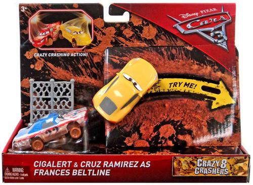 Disney / Pixar Cars Cars 3 Crazy 8 Crashers Cigalert & Cruz Ramirez as Frances Beltline Vehicle 2-Pack