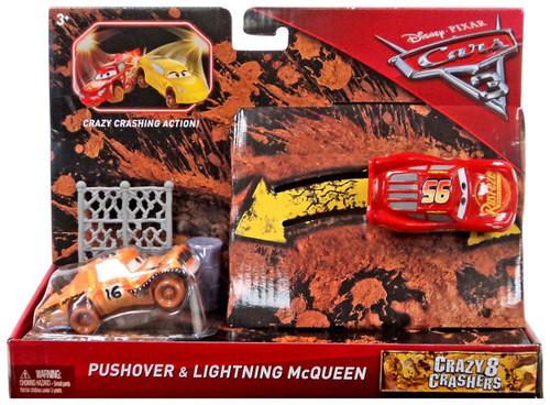 Disney / Pixar Cars Cars 3 Crazy 8 Crashers Pushover & Lightning McQueen Vehicle 2-Pack