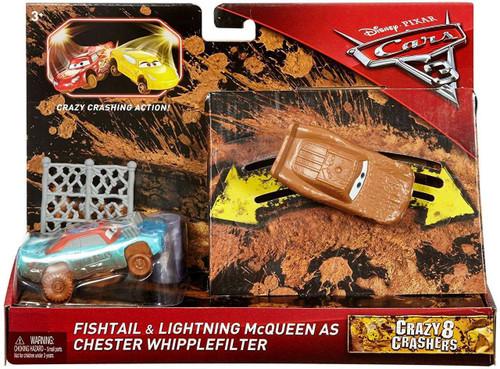 Disney / Pixar Cars Cars 3 Crazy 8 Crashers Fishtail & Lightning McQueen as Chester Whipplefilter Vehicle 2-Pack