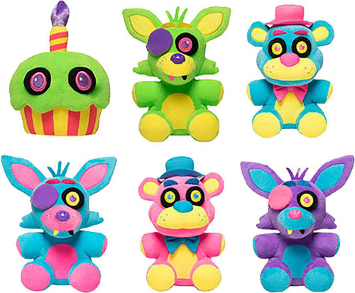 Funko Five Nights at Freddy's Blacklight Set of 6 Plushies
