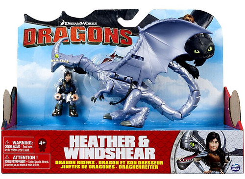 How to Train Your Dragon Dragons Dragon Riders Heather & Windshear Action Figure