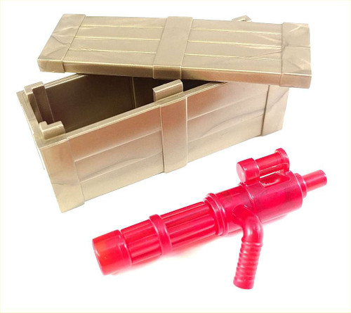 BrickArms Brass Crate with Trans-Red Minigun 2.5-Inch