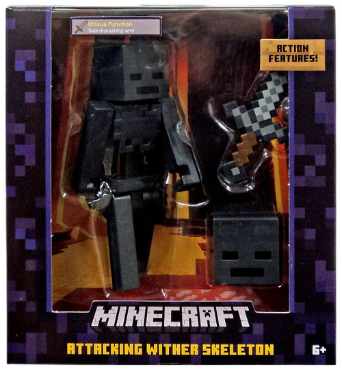 Minecraft Attacking Wither Skeleton Action Figure