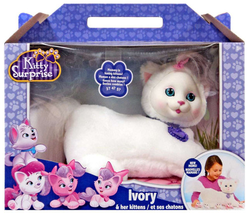 Kitty Surprise Ivory & Her Kittens Plush Toy