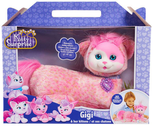 Kitty Surprise Gigi & Her Kittens Plush Toy