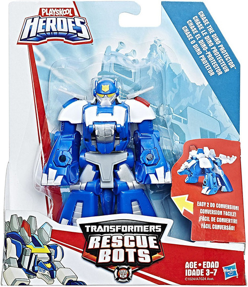 Transformers Playskool Heroes Rescue Bots Chase the Dino Protector Action Figure