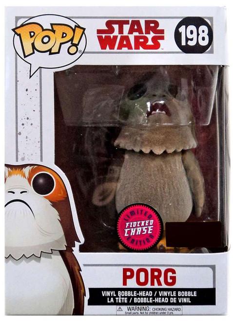 Funko The Last Jedi POP! Star Wars Porg Exclusive Vinyl Bobble Head #198 [Flocked, Open Mouth]