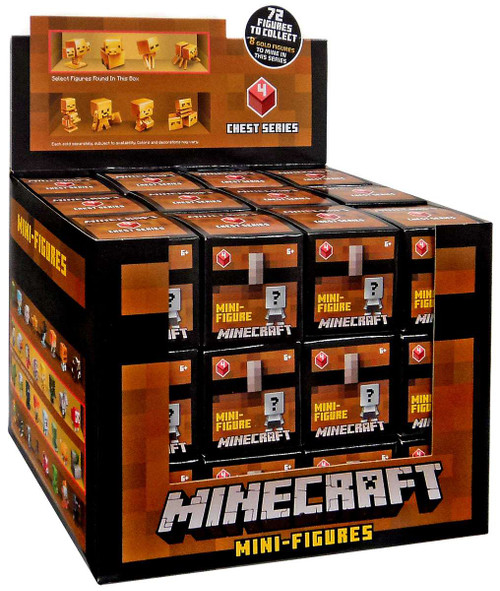 Minecraft Chest Series 4 (Red) Mystery Box [36 Packs]