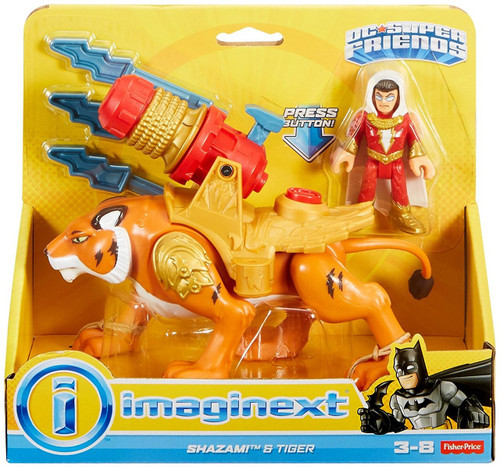Fisher Price DC Super Friends Imaginext Shazam! & Tiger 3-Inch Figure Set