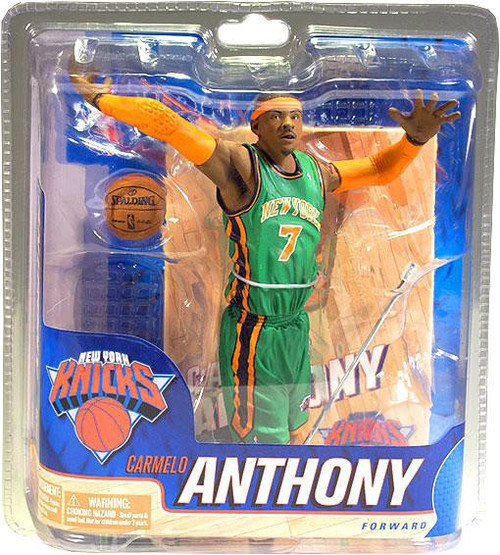 McFarlane Toys NBA New York Knicks Sports Picks Collectors Club Exclusive Carmelo Anthony Exclusive Action Figure [St. Patrick's Day Green Jersey]