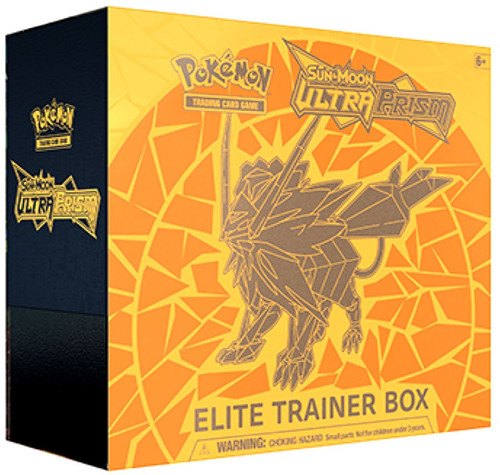 Pokemon Trading Card Game Sun & Moon Ultra Prism Dusk Mane Necrozma Elite Trainer Box [8 Booster Packs, 65 Card Sleeves, 45 Energy Cards & More]