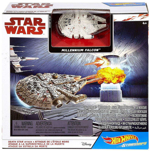 Hot Wheels Star Wars Starships Death Star Attack Playset [Damaged Package]