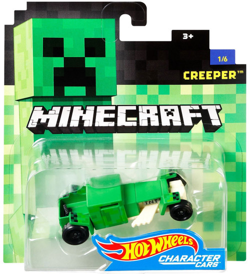 Hot Wheels Minecraft Character Cars Creeper Diecast Character Car #1/6 [2017]