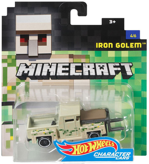 Hot Wheels Minecraft Character Cars Iron Golem Diecast Character Car #4/6 [2017]