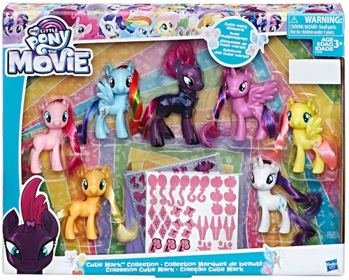 My Little Pony The Movie Cutie Mark Collection Exclusive Figure 7-Pack Set