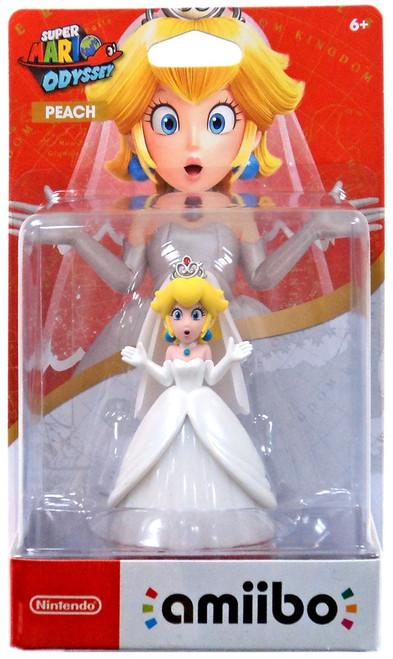 Nintendo Super Mario Odyssey Amiibo Peach Mini Figure [Wedding Outfit]