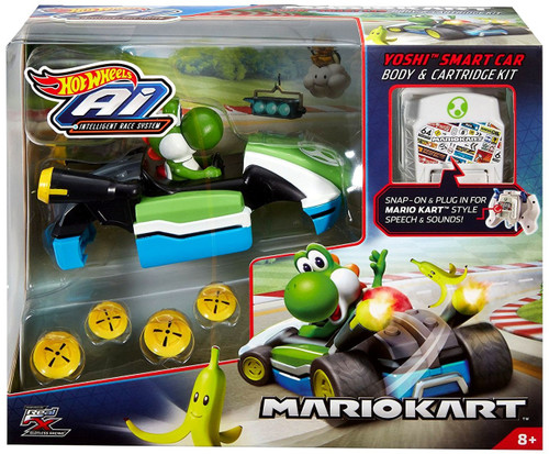 Mario Kart Hot Wheels AI Intelligent Race System Yoshi Smart Car Body & Cartridge Kit