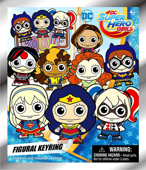 3D Figural Keyring DC Super Hero Girls Mystery Pack [1 RANDOM Figure]