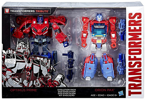 Transformers Tribute Optimus Prime & Orion Pax Exclusive Deluxe Action Figure 2-Pack [Evolution Pack]