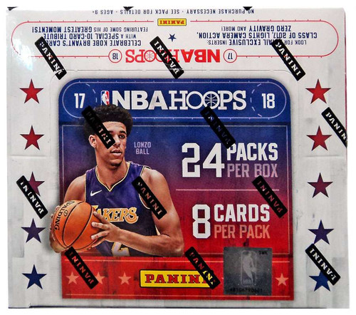 NBA Panini 2017-18 Hoops Basketball Trading Card RETAIL Box [24 Packs]
