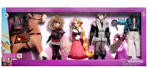 Disney Tangled The Series Classic Rapunzel, Flynn, Cassandra & Maximus Exclusive Deluxe Doll 4-Pack Gift Set