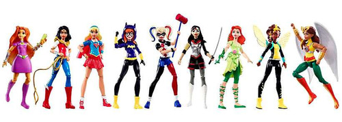 DC Super Hero Girls Action Collection Exclusive Action Figure 9-Pack [Includes Starfire & Hawkgirl!]